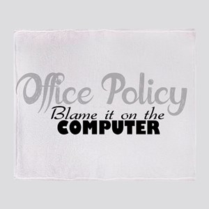 office policy Throw Blanket