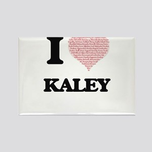 I love Kaley (heart made from words) desig Magnets