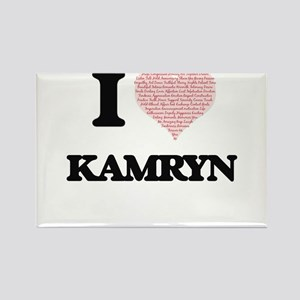 I love Kamryn (heart made from words) desi Magnets