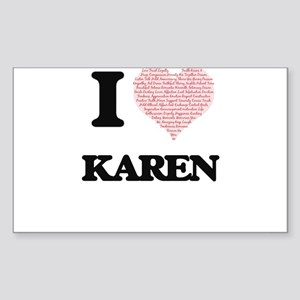 I love Karen (heart made from words) desig Sticker