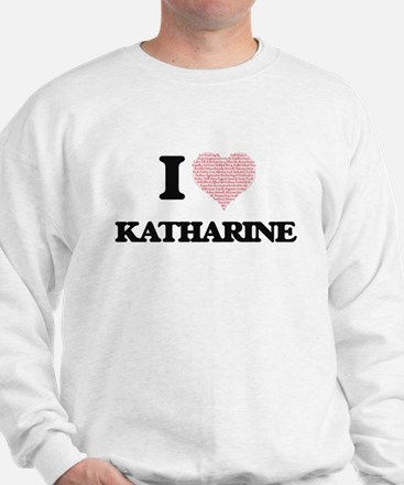 I love Katharine (heart made from words Jumper