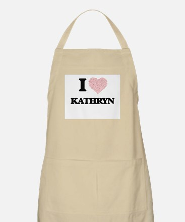 I love Kathryn (heart made from words) desig Apron