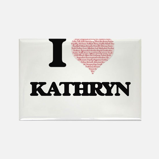 I love Kathryn (heart made from words) des Magnets