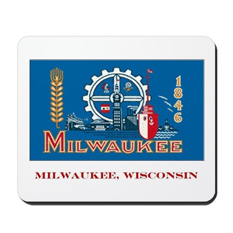 Milwaukee WI Flag Mousepad