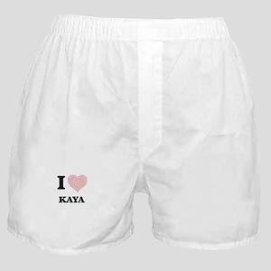 I love Kaya (heart made from words) d Boxer Shorts