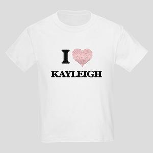I love Kayleigh (heart made from words) de T-Shirt