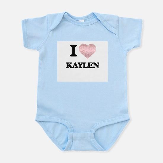 I love Kaylen (heart made from words) de Body Suit