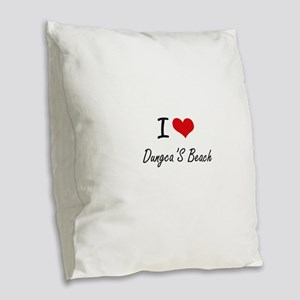 I love Dungca'S Beach Guam ar Burlap Throw Pillow