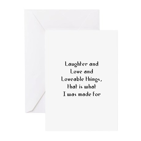Laughter and Love and Loveabl Greeting Cards (Pk o
