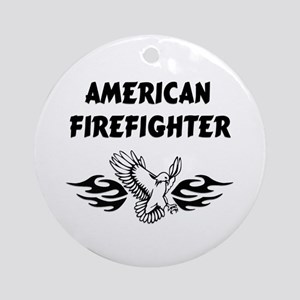 American Firefighter Ornament (Round)