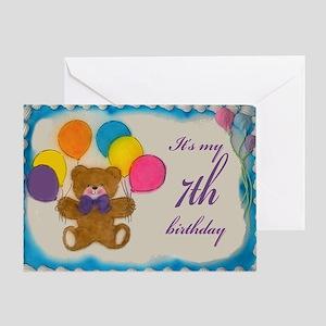 Boy 7th birthday greeting cards cafepress boy 7th birthday greeting card m4hsunfo