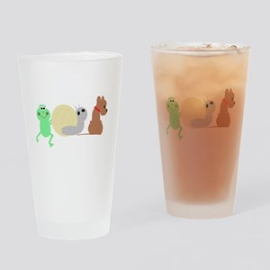 frog, snail, puppy dog Drinking Glass