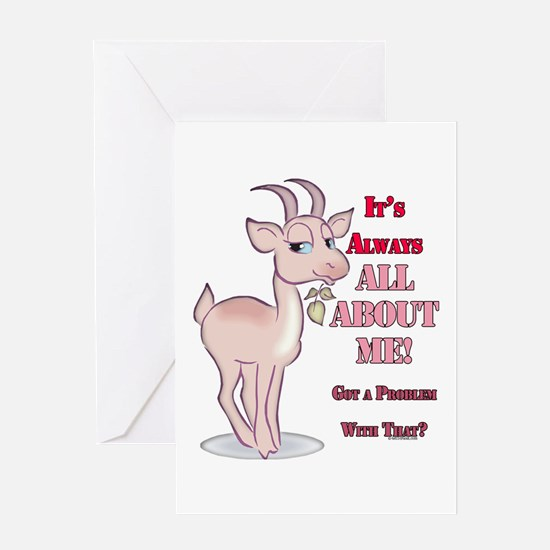 Goat About Me Greeting Card