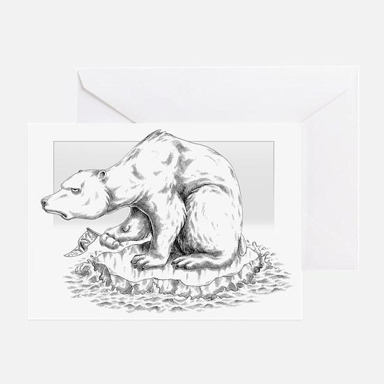 bipolar polar bears greeting cards cafepress