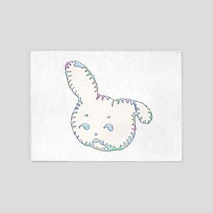 Bunny Head 5'x7'Area Rug