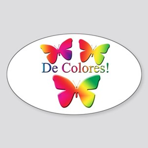 Butterfly DeColores Oval Sticker