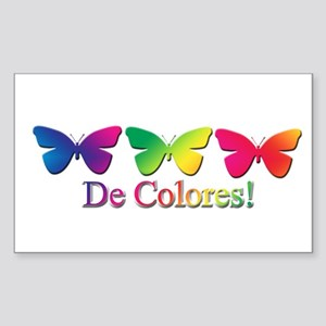 Butterfly DeColores Rectangle Sticker