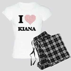 I love Kiana (heart made fr Women's Light Pajamas