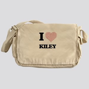 I love Kiley (heart made from words) Messenger Bag
