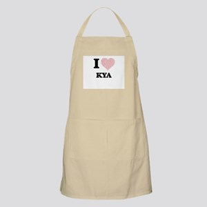 I love Kya (heart made from words) design Apron