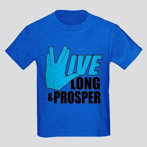 Live Long Prosper Kids Dark T-Shirt