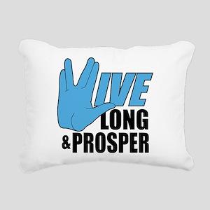Live Long Prosper Rectangular Canvas Pillow