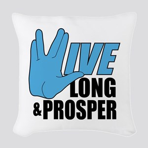 Live Long Prosper Woven Throw Pillow