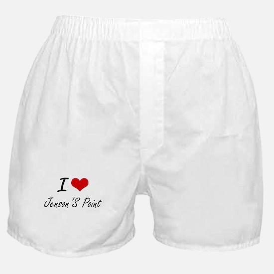 I love Jenson'S Point Texas artistic Boxer Shorts