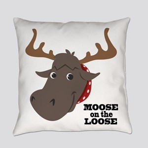 Moose On Loose Everyday Pillow
