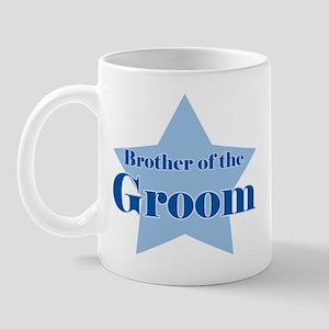 Brother of the Groom blue sta Mug