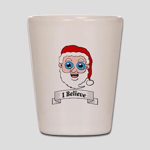 I Believe Santa Shot Glass