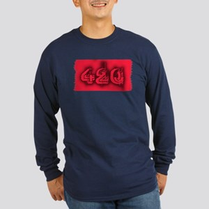 420 Stoner Long Sleeve Dark T-Shirt