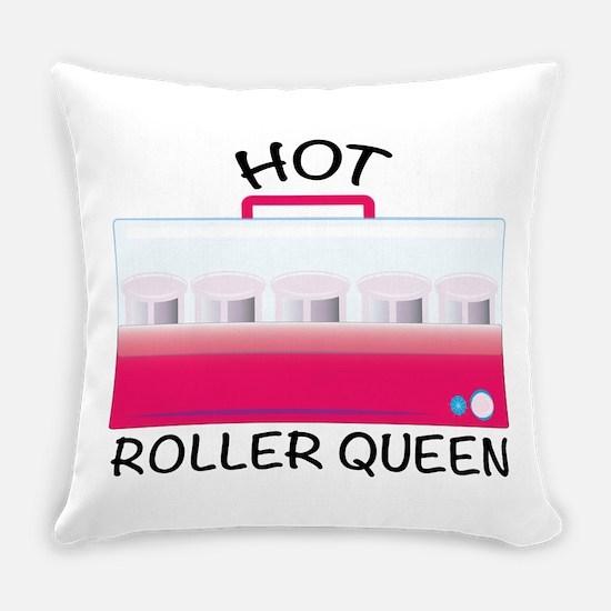 Hot Roller Queen Everyday Pillow