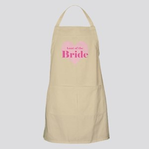 Aunt of the Bride pink heart BBQ Apron