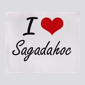 I love Sagadahoc Maine artistic des Throw Blanket