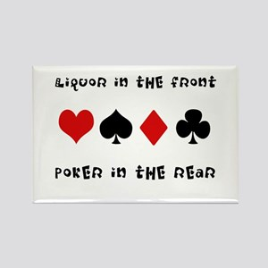 Poker in the Rear Rectangle Magnet