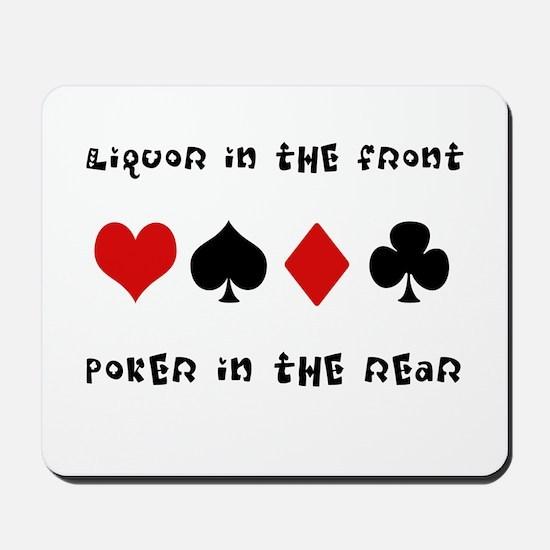 Poker in the Rear Mousepad