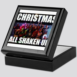 CHRISTMAS ALL SHAKEN UP CAST PHOTO Keepsake Box