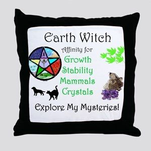 Earth Witch Throw Pillow