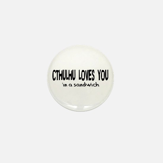 Cthulhu Loves You Mini Button