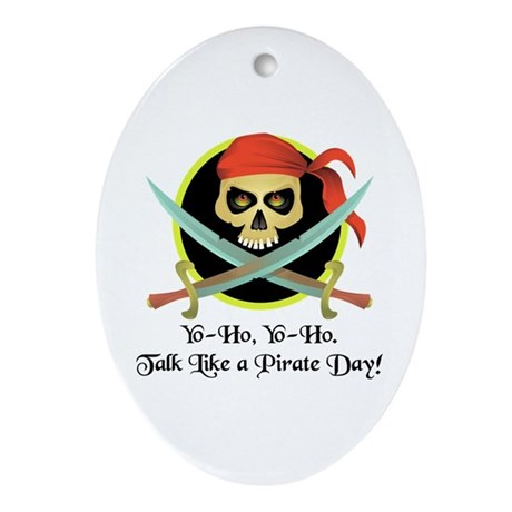 Pirate Day Oval Ornament