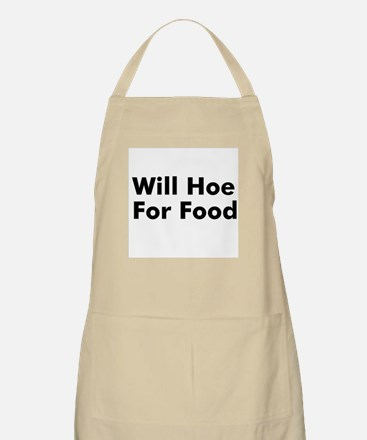 Will Hoe For Food BBQ Apron