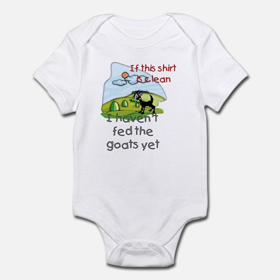 Haven't Fed Goats Yet Infant Bodysuit
