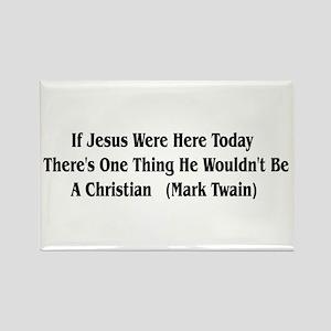 Mark Twain Jesus Quote Rectangle Magnet