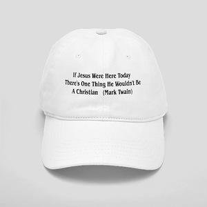 Mark Twain Jesus Quote Cap