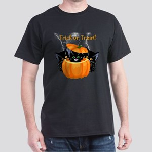 Halloween Trick or Treat Black Cats T-Shirt