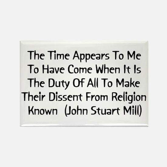 John Stuart Mill Religion Quote Rectangle Magnet