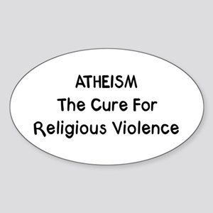 Cure Religious Violence Oval Sticker