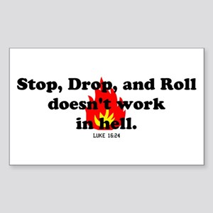 Stop Drop and Roll Rectangle Sticker