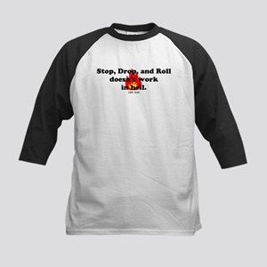 Stop Drop and Roll Kids Baseball Jersey